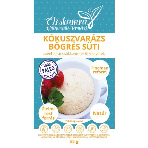 Éléskamra Kókuszvarázs bögrés süti szénhidrát csökkentett lisztkeverék 52 g (gluténmentes, paleo, cukormentes)