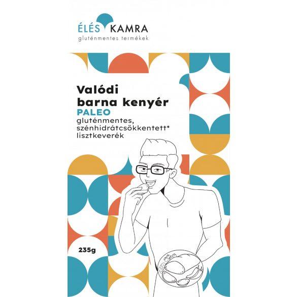 Éléskamra Valódi barna kenyér szénhidrát csökkentett* lisztkeverék (paleo, gluténmentes, cukormentes)  235 g