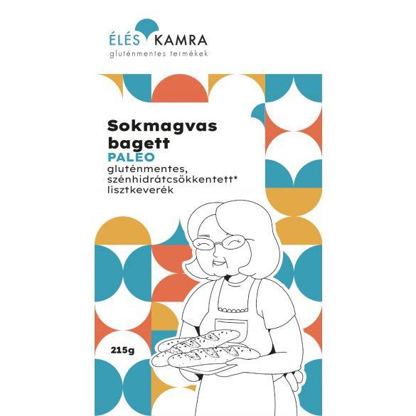 Éléskamra Sokmagvas bagett szénhidrát csökkentett lisztkeverék 215 g (gluténmentes, paleo, cukormentes)