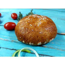 Gluténmentes Hamburger zsemle tojásos kenéssel készre sütött 110 g (tejtermék, szója, kukorica nélkül, VEGÁN tésztával)