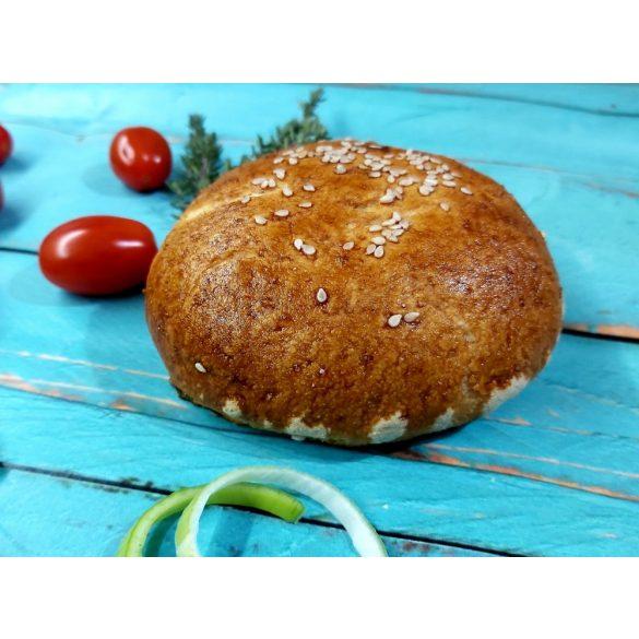 Gluténmentes Hamburger zsemle tojásos kenéssel készre sütött 4x 110 g (tejtermék, szója, kukorica nélkül, VEGÁN tésztával)