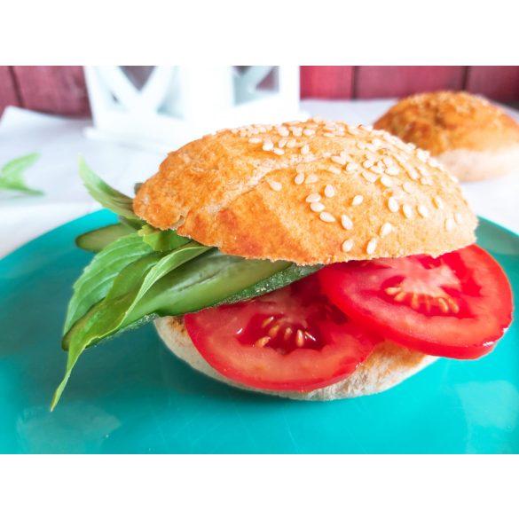 Gluténmentes Hamburger zsemle paradicsomos kenéssel készre sütött 4 x 110 g (tejtermék, szója, kukorica, tojás nélkül, VEGÁN)
